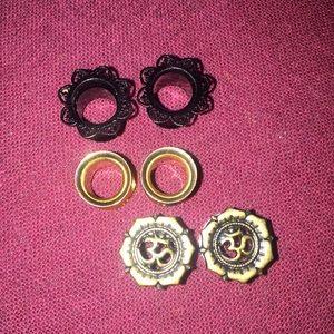 Jewelry - Used ear plugs Size 0g / ear gauges / tunnels